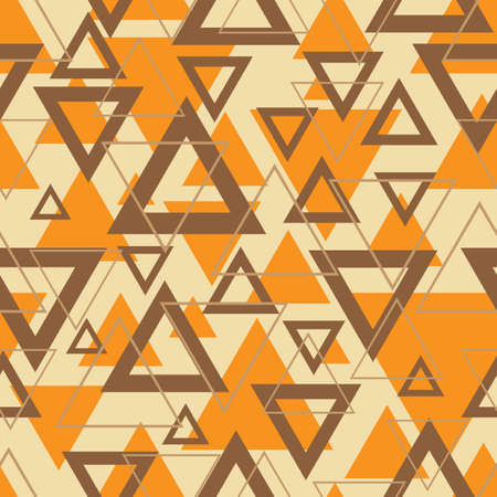 Seamless Geometric Background in Triangles Vector