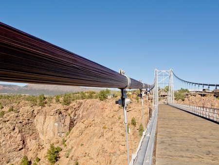 Suspension Bridge Stockfoto