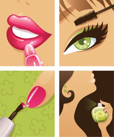 ceremonial makeup: Make-up Illustration