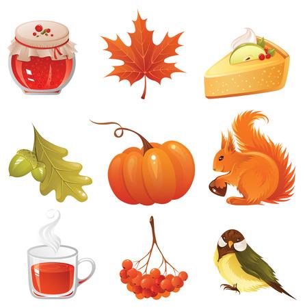 autumn icon Stock Vector - 3665037