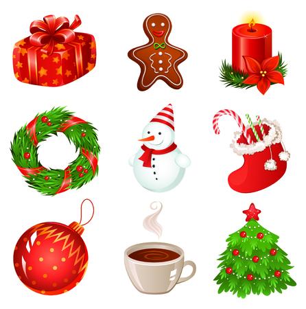 lebkuchen: Weihnachten Icon Set Illustration