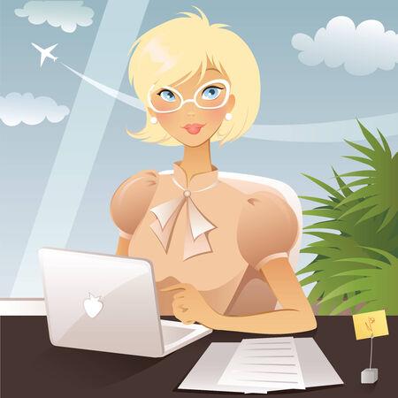 business woman Vettoriali