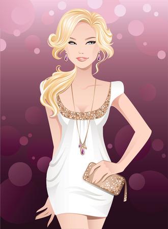 Disco glamour girl Stock Vector - 6485907