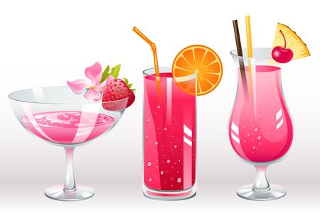 Beeren-cocktails  Vektorgrafik