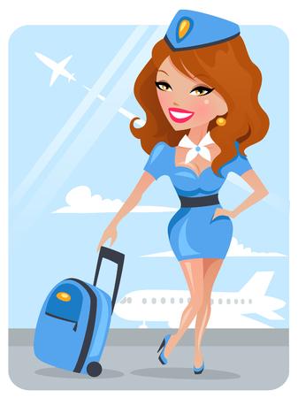 Cute Stewardess