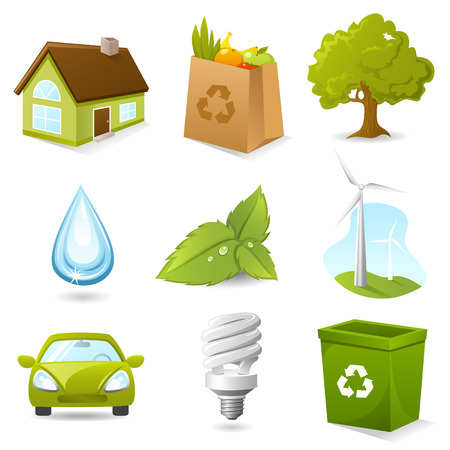 Ecology Icon set Vector