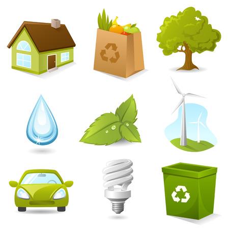 Ecology Icon set Vettoriali