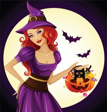 brujas caricatura: Bruja de Halloween