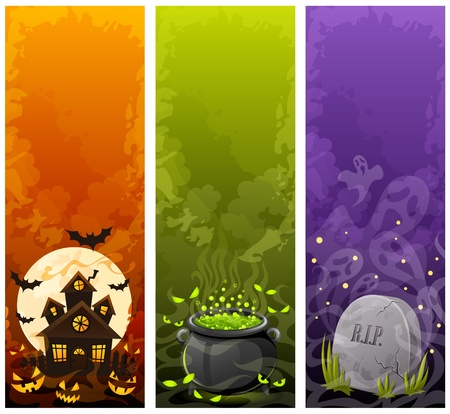 halloween cartoon: Halloween banners
