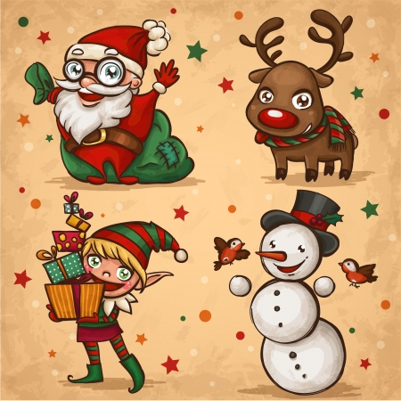 Christmas characters  Stock Vector - 16111633