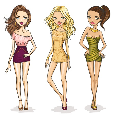 Fashion girls Vectores