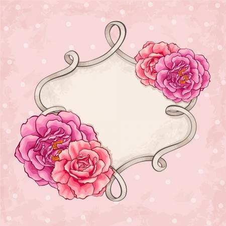 flower arrangement: Roses frame