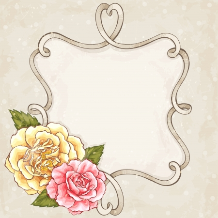 Rozen frame Stock Illustratie