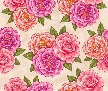 Roses seamless Vector