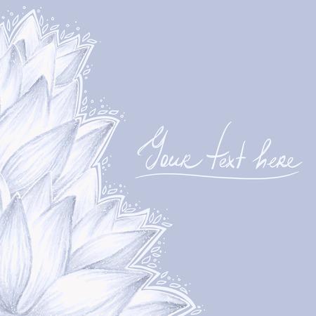 Blauwe lotus leeg ontwerp