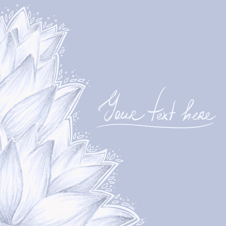 Blue lotus blank design