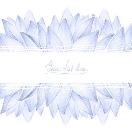 Blue lotus petals design card