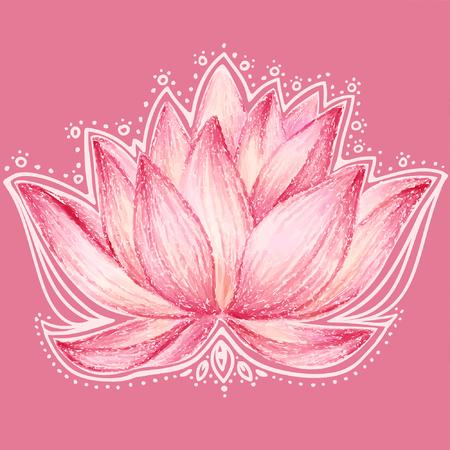 Lotus bloem ontwerp