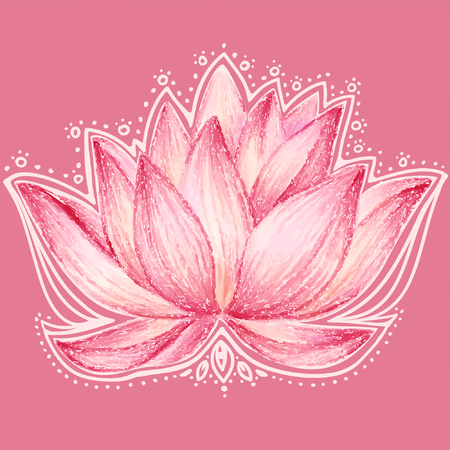 oriental background: Lotus flower design