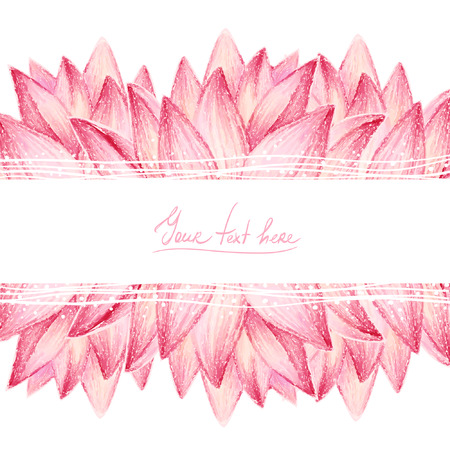 pastel: Pink lotus flower design card