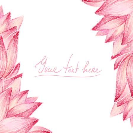 Pink lotus flower design card