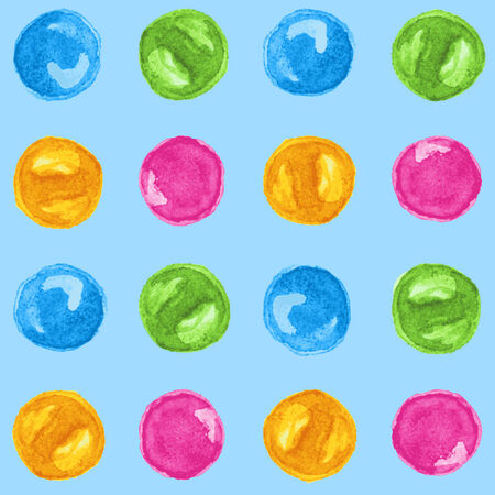 rounds: Watercolor rounds seamless