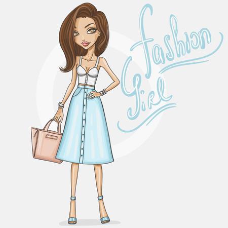 Fashion meisje in een stijlvolle outfit