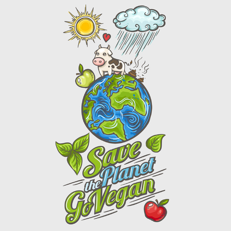 Save planet - concept design poster Illustration