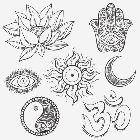 Spiritual symbols Vector