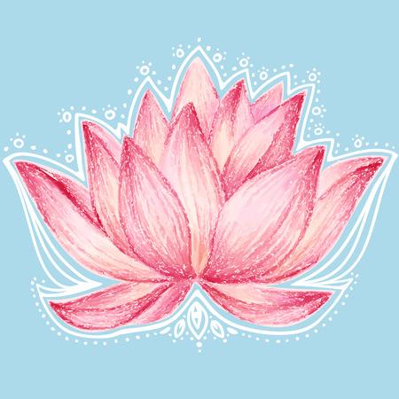Lotusbloem ontwerp Stock Illustratie