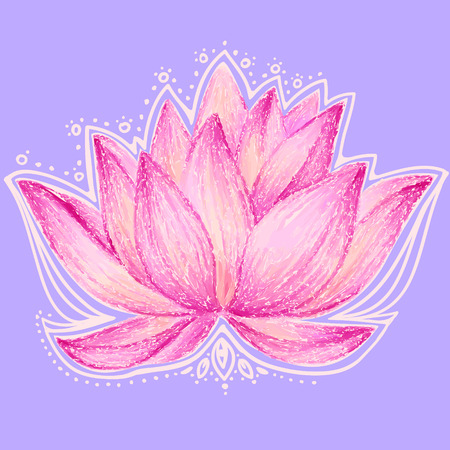 lotus background: Beautiful lotus flower illustration