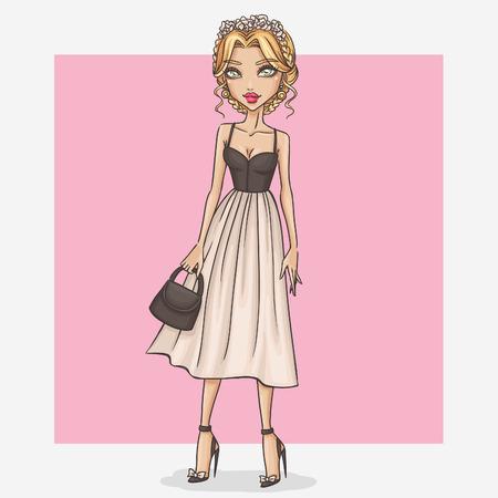 Girl in beautiful and romantic dress