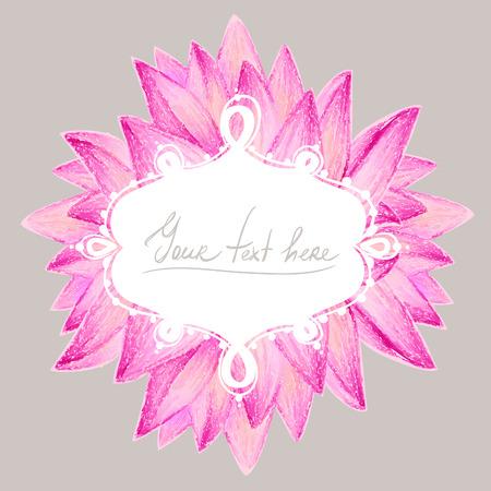 beautiful flower: Beautiful flower greeting card design. Vector illustration.