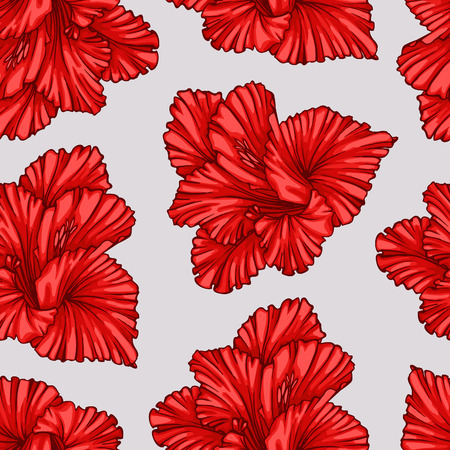 seamless floral pattern: Simple floral seamless pattern.