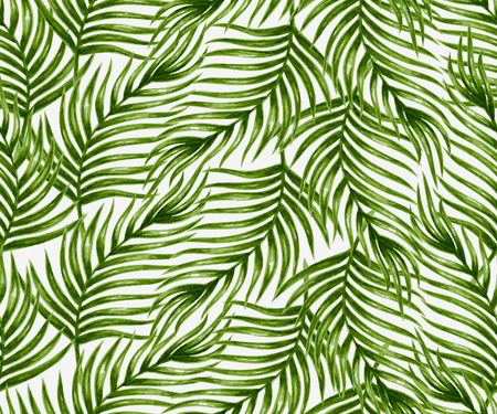 vector pattern: Watercolor tropical palm leaves seamless pattern. Vector illustration.
