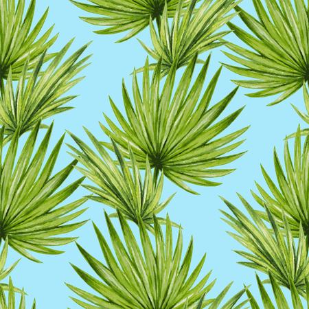 Acquerello palme tropicali leaves modello senza saldatura Archivio Fotografico - 45007992
