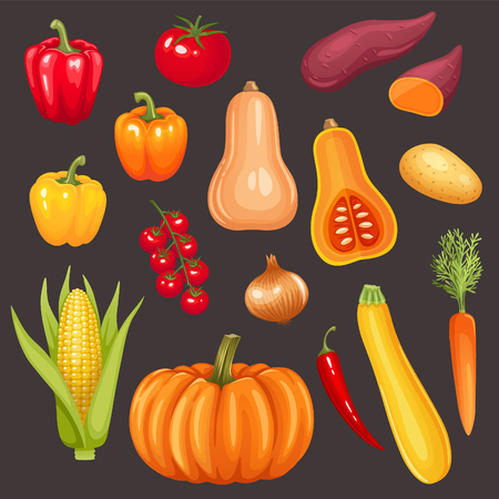 sweet: Set of fresh vegetables
