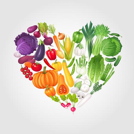 celery: Heart of vegetables. Healthy food vector illustration background. Illustration