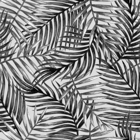 Aquarel tropische palm verlaat naadloos patroon