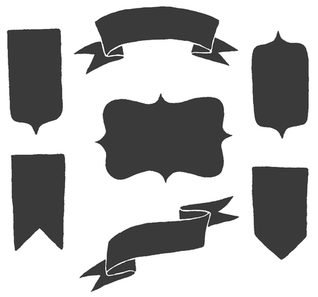 Vector shapes set Vettoriali