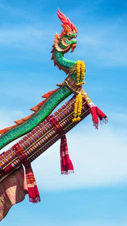 traditon: the big serpent fireworks in Thailand