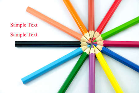 Color pencils isolated on white background for school and kids Reklamní fotografie - 8727284