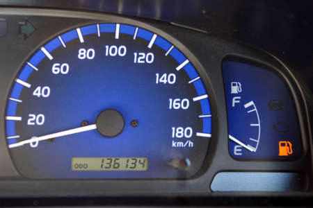 Fuel gauge on its way to empty photo