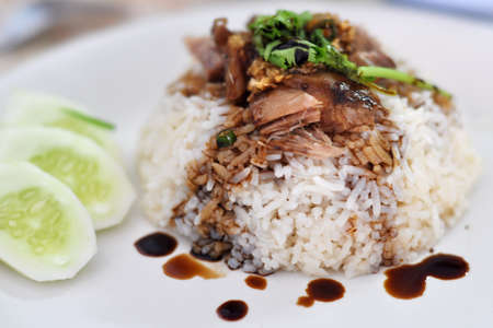 Roasted Sliced Duck With Rice photo