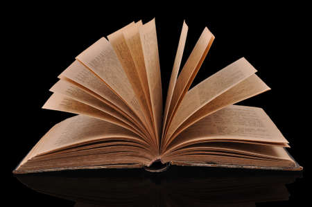 Old book open Stock Photo - 10400798