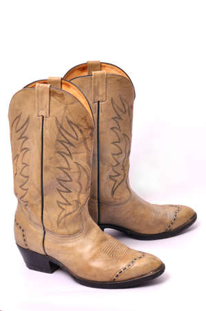 Cowboys boots from a natural leather photo