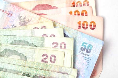 Set of Thailand money isolated on white Stock Photo - 13873732