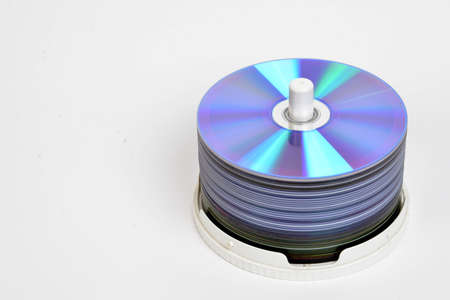 Colorful DVD disks isolated over a white background Stock Photo - 16771151