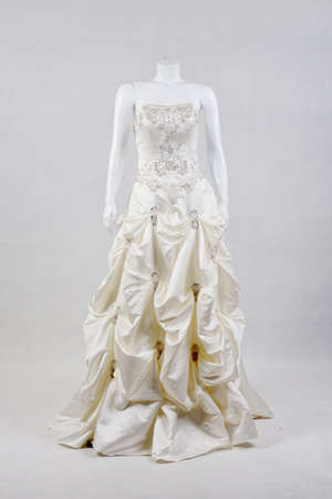 Beautiful White Wedding Gown 0n  mannequins  photo