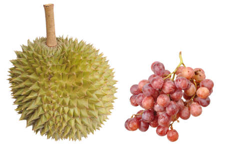 durian and grape